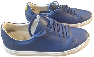 Anya Hindmarch Blue Leather Trainers