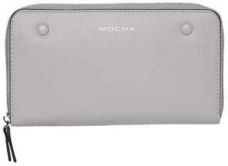 Mocha Robbi Zip Around Wallet
