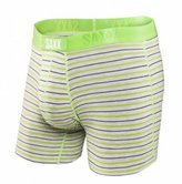 Saxx Men's Boxer Brief Vibe Modern Fit - Heather Zest Stripe - L