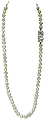 One Kings Lane Vintage Givenchy Deco-Style Glass Pearl Necklace - Wisteria Antiques Etc