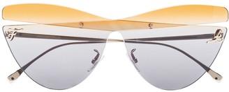Cat Eye Cut-Out Sunglasses