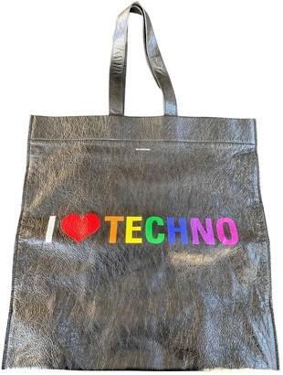 Balenciaga Metallic Leather Handbags