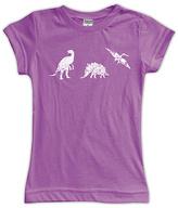 Urban Smalls Purple Dinosaur Fitted Tee - Toddler & Girls