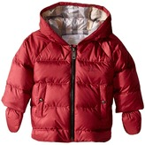 Burberry Rilla Puffy Checked Hood Jacket Girl's Coat