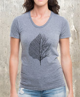 Etsy Leaf & Tree - Women's American Apparel Tri Blend T-Shirt