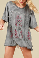 POL Floral Embroidered Top