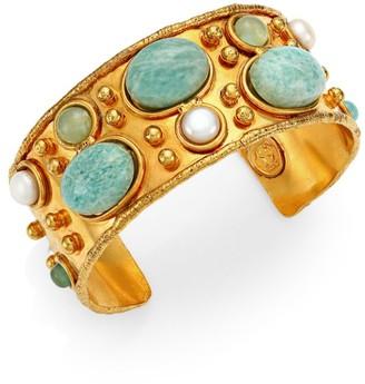 Sylvia Toledano Manchette 22K Goldplated & Multi-Stone Cuff