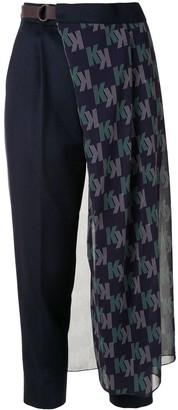 Kolor Logo Tulle Overlay Trousers