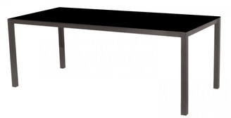 Casual Life Furniture Una Dining Table Hpl Top Black 200cm