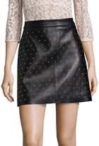 SET Women's Studded Leather Mini Skirt
