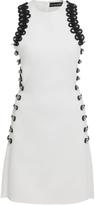 David Koma Sleeveless Loop Embroidered Mini Dress