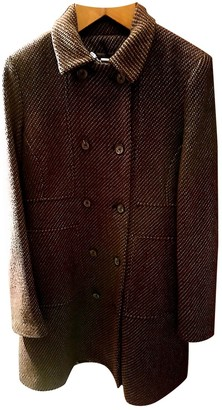 Calvin Klein Brown Tweed Coat for Women
