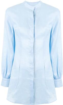 Bambah Longline Mandarin Collar Shirt