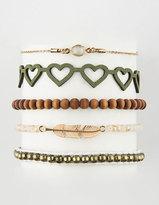 Full Tilt Emily Heart & Leaf Friendship Bracelets
