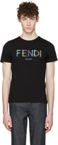 Fendi Black Stripe Logo T-shirt