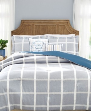 Mytex Home Sweet Home Canton Plaid 5-Pc Queen Comforter Set with Embroidery Bedding