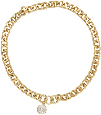 Ettika Crystal Disc Collar Necklace