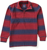 Brooks Brothers Little/Big Boys 4-20 Striped Rugby Quarter-Zip Top
