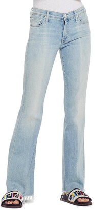 Mother Frayed Flare Jeans