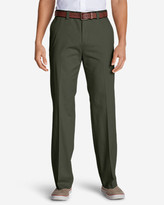 Eddie Bauer Men's Casual Performance Chino Flat-Front Pants - Classic Fit