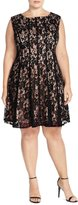 Julian Taylor Women's Plus Size cap Sleeve Lace Dress - Little Black Dress (16W, )