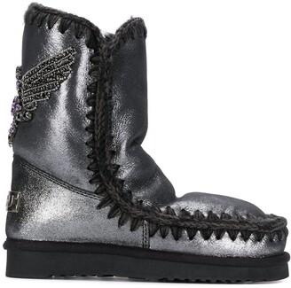 Mou Eskimo eagle embellished boots