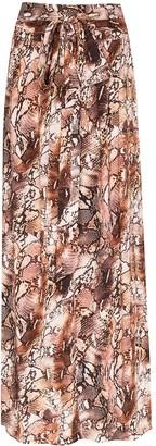 Melissa Odabash Elsa snake-print maxi skirt