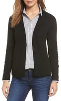 Petite Women's Halogen V-Neck Merino Wool Cardigan