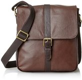 Fossil Men's Estate Saffiano Leather North-South City Bag