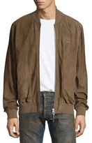 PRPS Server Perforated Suede Bomber Jacket
