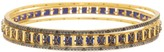 Freida Rothman 14K Gold Plated Sterling Silver Indigo Armour Bangles - Set of 3