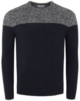 George Colour Block Chunky Knit Crew Neck Jumper