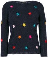 Roberto Collina floral embroidered jumper - women - Nylon/Angora - S