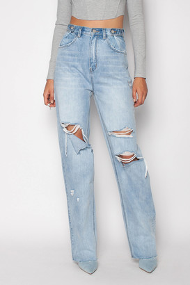 ZGY DENIM High-Waisted Loose Jean Forever Blue