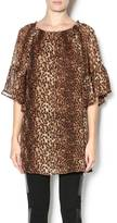 Cowgirl Justice Sheer Leopard Top