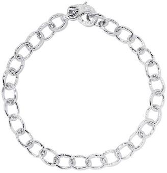 Loree Rodkin 14kt White Gold Diamond Medium Flinstone Chain Bracelet