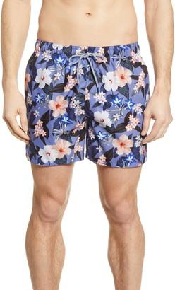 Ted Baker Inspect Floral Stripe Swim Trunks