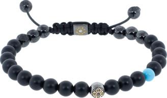 Shamballa Onyx And Turquoise Bracelet