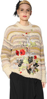 Antonio Marras Floral Embroidered Wool Blend Sweater