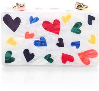 Edie Parker Mini Hearts Clutch