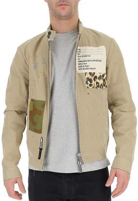 DSQUARED2 Distressed Patchwork Jacket