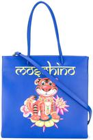 Moschino jewelled tiger tote bag - women - Calf Leather - One Size