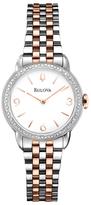 Bulova Two-Tone Analog Diamond Bracelet Watch