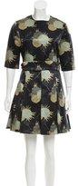 Jill Stuart Floral Print A-Line Dress