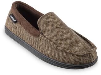 Isotoner Men's Herringbone Logan Moccasin Slippers