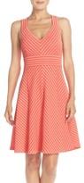 Adrianna Papell Petite Women's Stripe Ottoman Knit Sundress