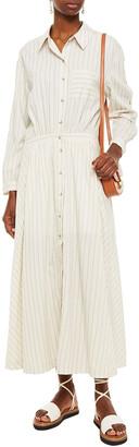 BA&SH Sami Gathered Striped Twill Maxi Dress