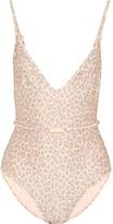 Zimmermann Belted Leopard-print Swimsuit - Leopard print