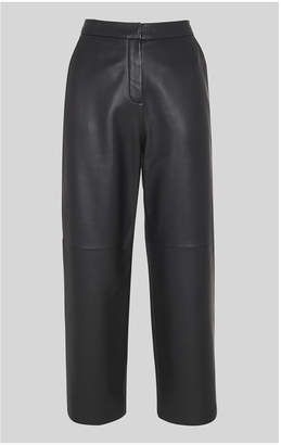 Whistles Leather Flat Front Trouser
