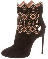 Alaia Metallic Ankle Boots